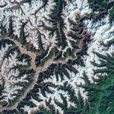 Yarlung Tsangpo Canyon Print by Us Geological Survey