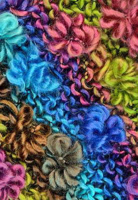 Yarn With Twists And Loops Print by Jim Hughes