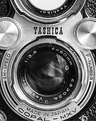 35mm Photograph - Yashica 635 - Front Detail by Jon Woodhams