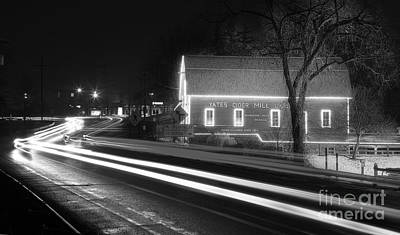 Yates Cider Mill At Christmas Print by Twenty Two North Photography