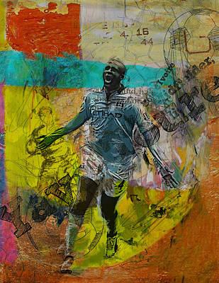 Qatar Painting - Yaya Toure - B by Corporate Art Task Force
