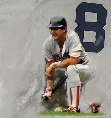 Hall Of Fame Drawing - Yaz  Carl Yastrzemski by Iconic Images Art Gallery David Pucciarelli