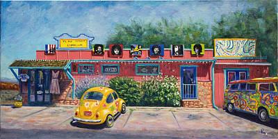 Hippie Van Painting - Ye Ole Hippie Emporium by Patty Kay Hall