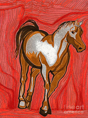 New Baby Art Drawing - Year Of The Horse By Jrr by First Star Art