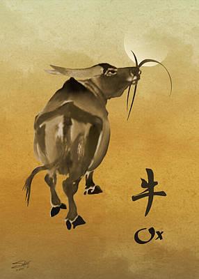 Zodiac Digital Art - Year Of The Ox by Schwartz