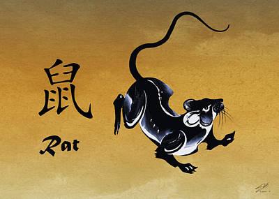 Zodiac Digital Art - Year Of The Rat by Schwartz