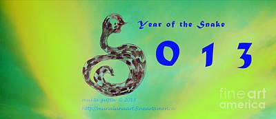Cobra Mixed Media - Year Of The Snake 2013 by Mukta Gupta