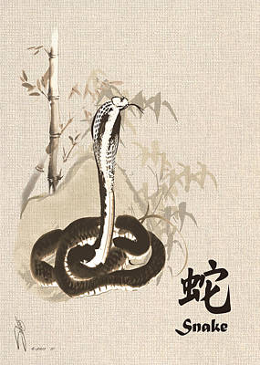 Zodiac Digital Art - Year Of The Snake by Schwartz