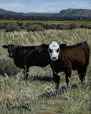 Dolores Painting - Yearlings by Timithy L Gordon