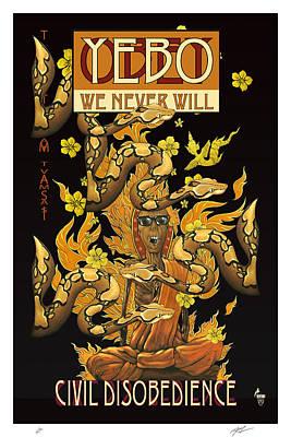 Free Speech Digital Art - Yebo Civil Disobedience 2 by Philip Slagter