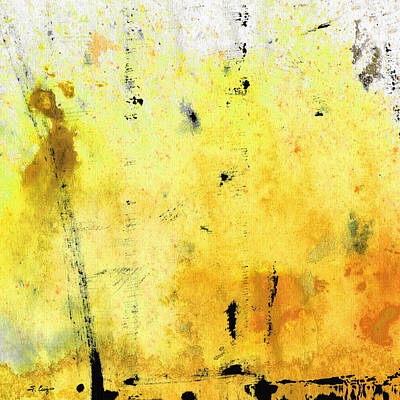 Abstract Expressionist Painting - Yellow Abstract Art - Lemon Haze - By Sharon Cummings by Sharon Cummings