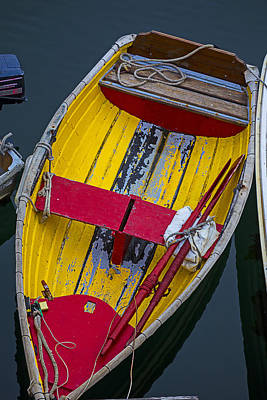 Yellow And Red Boat Print by Garry Gay