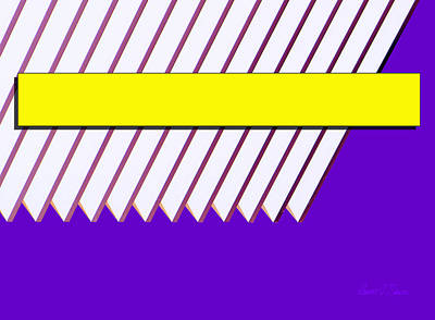 Yellow Bar White Louvers Print by Robert J Sadler