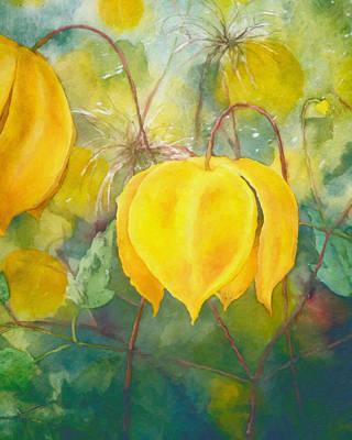 Green Mixed Media - Yellow Bells by Georgiana Romanovna