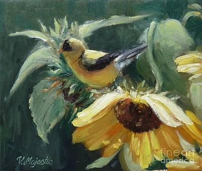 Yellow Bird - Hooded Oriole Print by Viktoria K Majestic