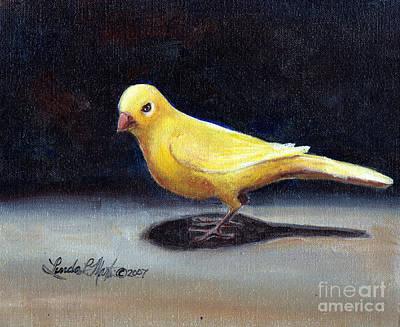 Yellow Bird Print by Linda L Martin