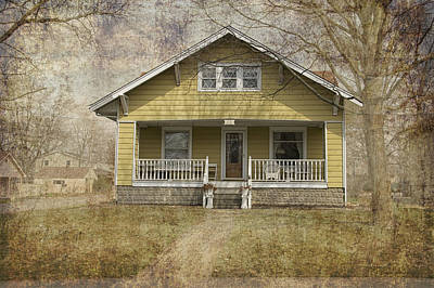 Yellow Bungalow Print by Thomas Woolworth