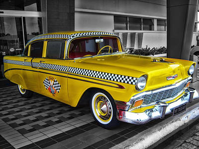 Checker Cab Photograph - Yellow Cab by Mountain Dreams