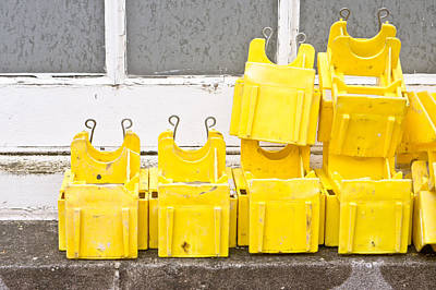 Ledge Photograph - Yellow Caps by Tom Gowanlock