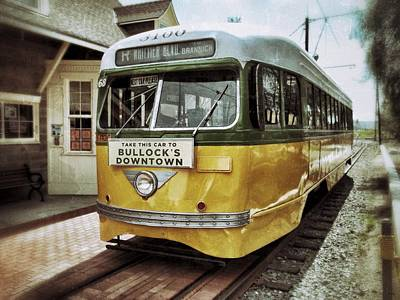 Trolly Photograph - Yellow Car - Los Angeles by Glenn McCarthy Art and Photography