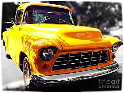 Yellow Chevy Print by Garren Zanker