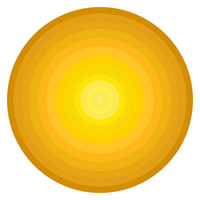 Disc Painting - Yellow Circles by Frank Tschakert