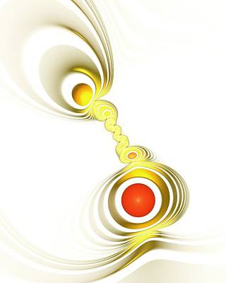 Cool Jewelry Digital Art - Yellow Connection by Anastasiya Malakhova