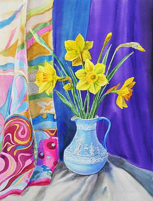 Yellow Daffodils Print by Irina Sztukowski