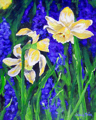 Frier Painting - Yellow Daffs by Jamie Frier