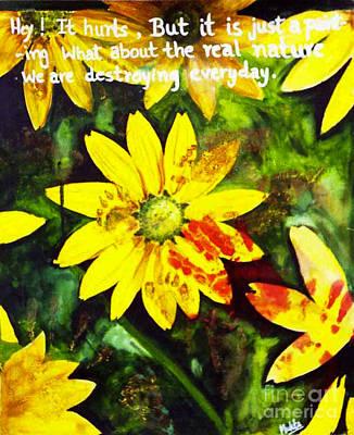Yellow Daisies Print by Mukta Gupta