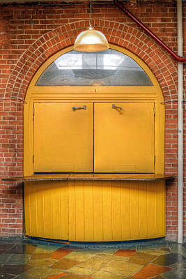 Yellow Door - Take Out Service Print by Geoffrey Coelho