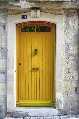 Yellow French Door Print by Georgia Fowler