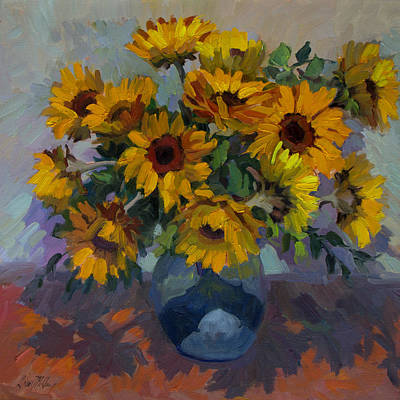 Sunflowers Still Life Painting - Yellow Harmony by Diane McClary