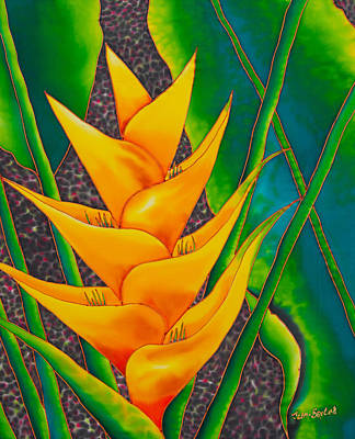 Yellow Heliconia Print by Daniel Jean-Baptiste