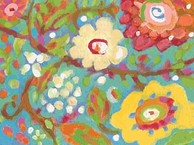 Pottery Barn Style Digital Art - Yellow Hibiscus Garden Large by Karen Fields