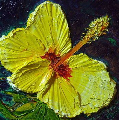 Yellow Hibiscus Print by Paris Wyatt Llanso