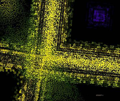 Horizontal Digital Art - Yellow Art  by Mario Perez