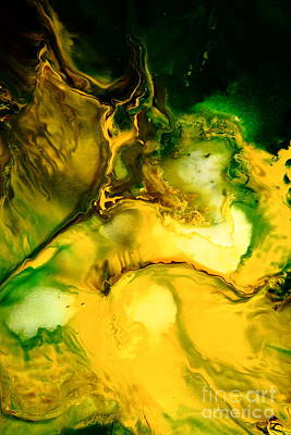 Modern Abstract Mixed Media - Yellow Jacket Abstract Art by Serg Wiaderny