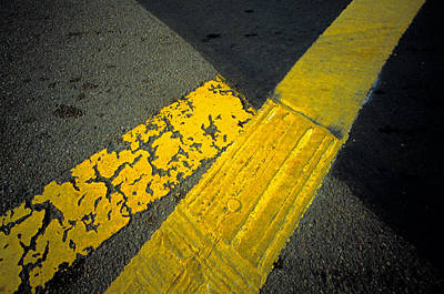 Asphalt Photograph - Yellow Lines On Road by Panoramic Images
