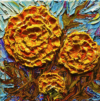 Yellow Marigolds Print by Paris Wyatt Llanso