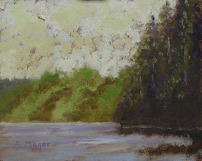 Sitka Painting - Yellow Mist by Alan Mager