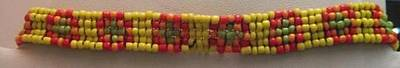 Yellow Orange Red And Green Bracelet Print by Kimberly Johnson