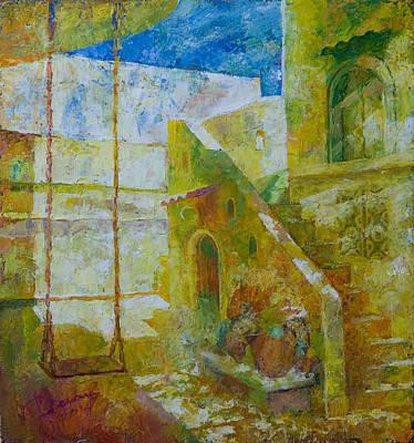 Yellow Patio II Original by George Demchev