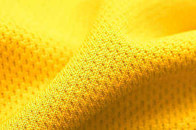 Yellow Polyester Print by Tom Gowanlock
