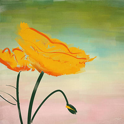 Remembrance Digital Art - Yellow Poppies by Lourry Legarde
