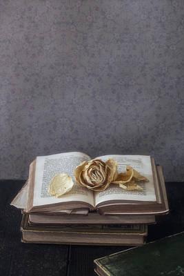 Dried Photograph - Yellow Rose by Joana Kruse
