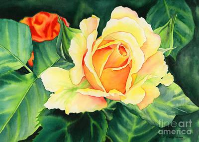 Yellow Roses Original by Hailey E Herrera