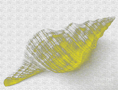 Abstract Forms Digital Art - Yellow Seashell by Carol Lynch