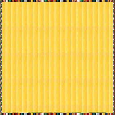 Texture Mixed Media - Yellow Stripes Energy Print by Navin Joshi