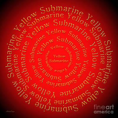 John Lennon Digital Art - Yellow Submarine 1 by Andee Design